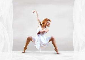 Contemporary Dancer on White Background