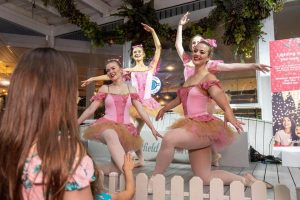 WAPS Advanced Ballet students performing at Westfield Whitford City