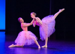 Ballet students onstage with WAPS