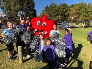 Run for a Reason May 19 - Senior performers with Happy the Heart