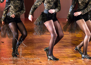 WAPS adult tap dance onstage at concert