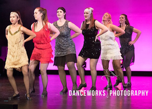 WAPS adult tap dance onstage at concert