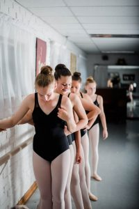 Making friends in ballet class